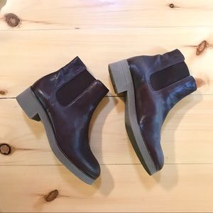 Unisa Brown Leather Chelsea Boot with Gum Sole